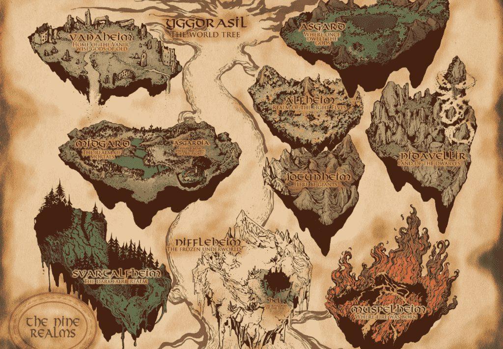 iskandinav mitolojisi - Yggdrasil