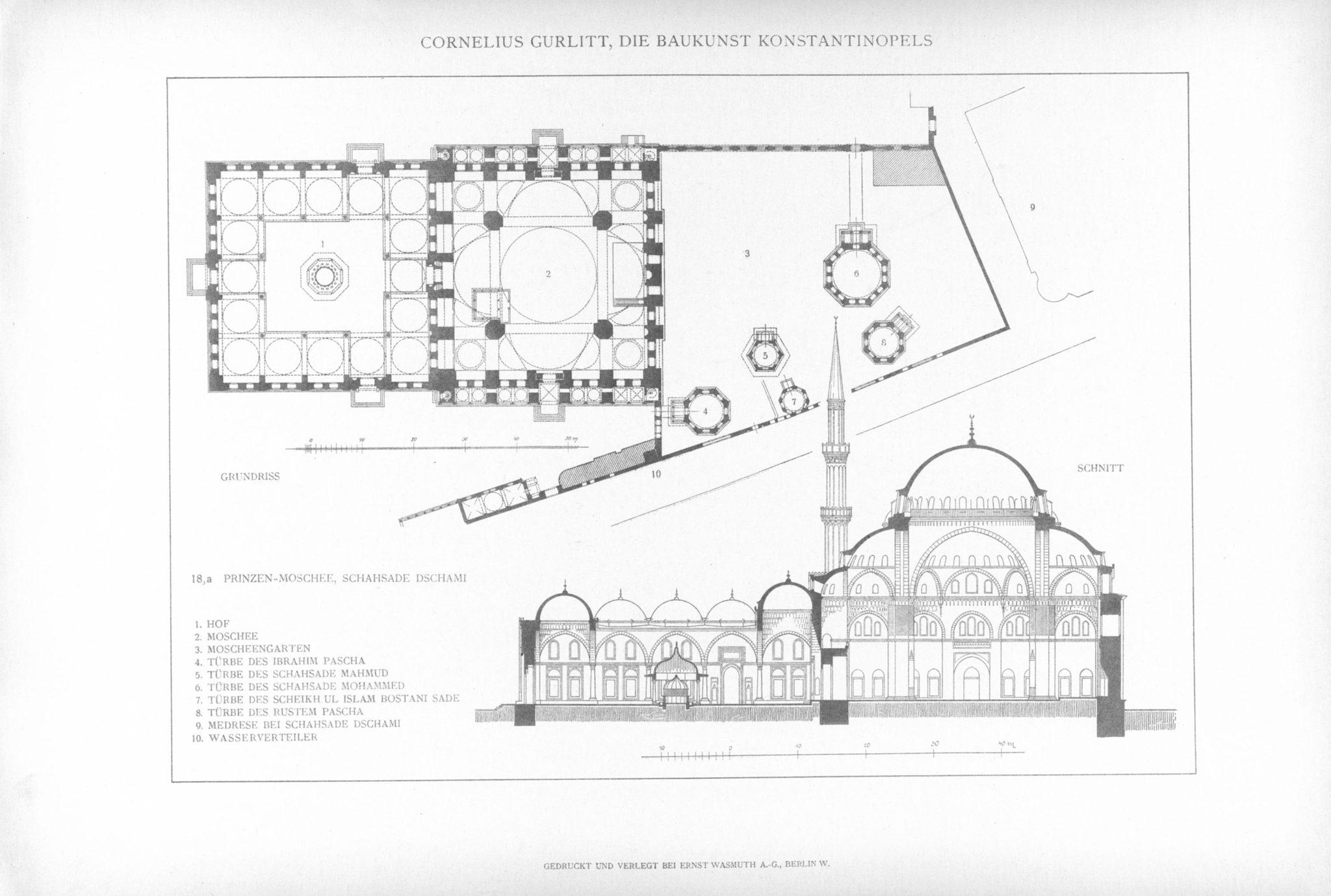 Şehzade Camii Planı