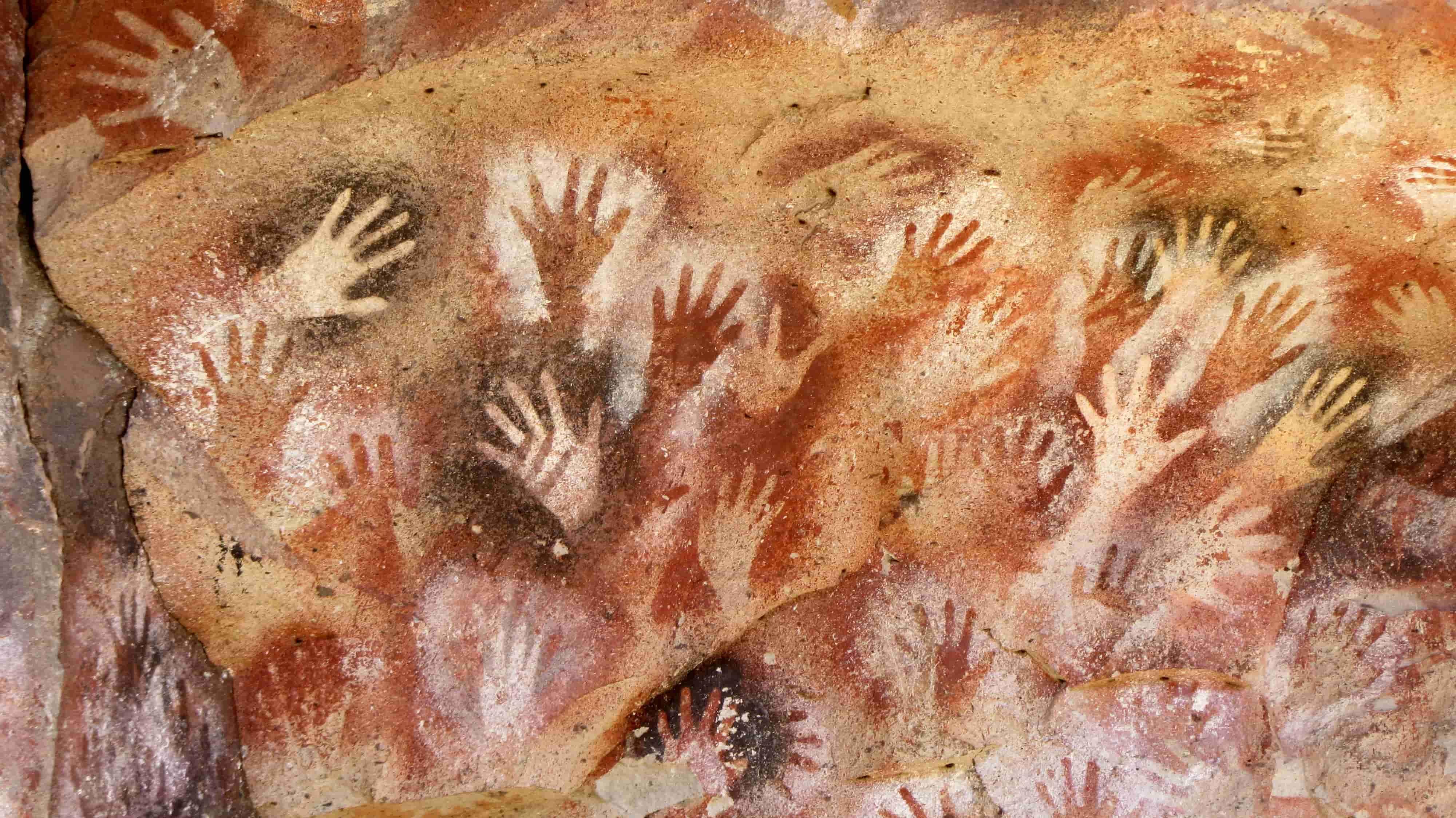 Mağara resimleri - Arjantin Eller Mağarası