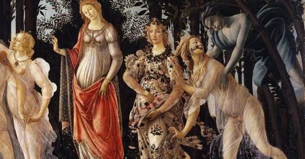 botticelli ilkbahar tablosu - la primavera
