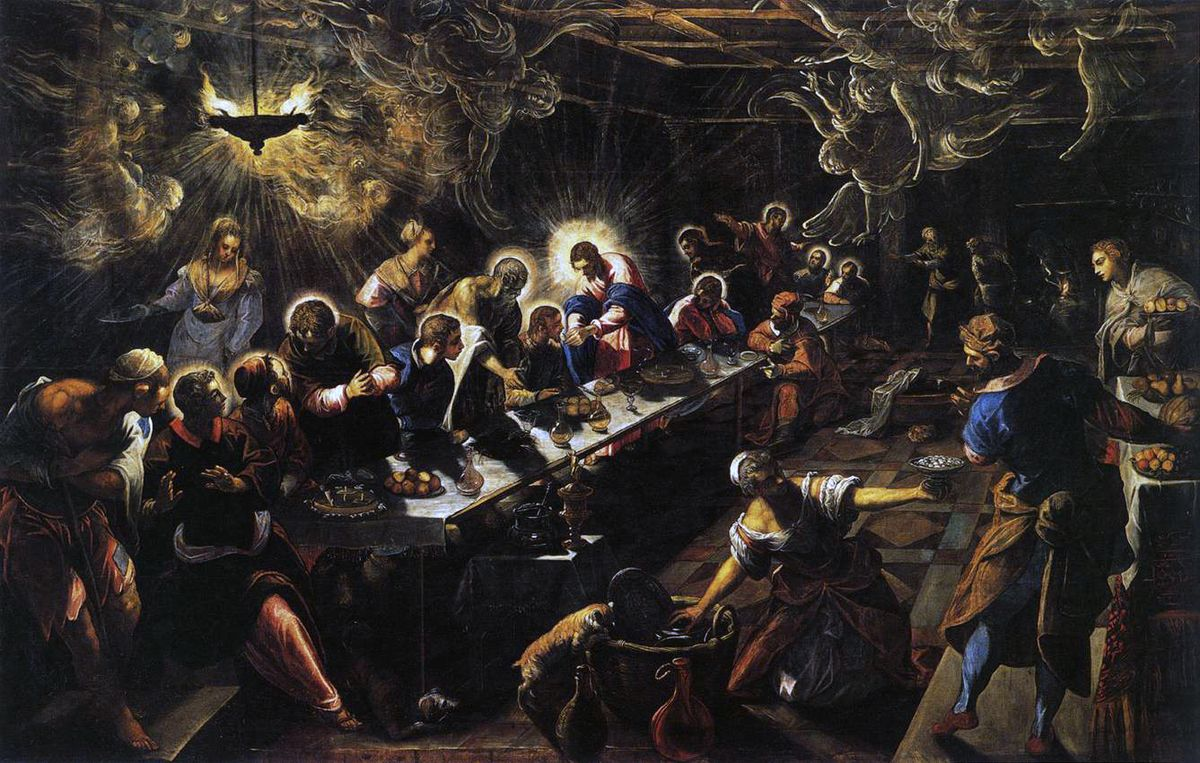 Tintoretto'nun The Last Supper Tablosu