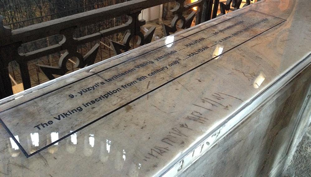 Ayasofyada viking yazısı