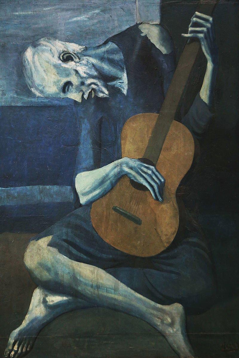 Pablo Picasso Ve Yasli Gitarist Carlos Casagemas