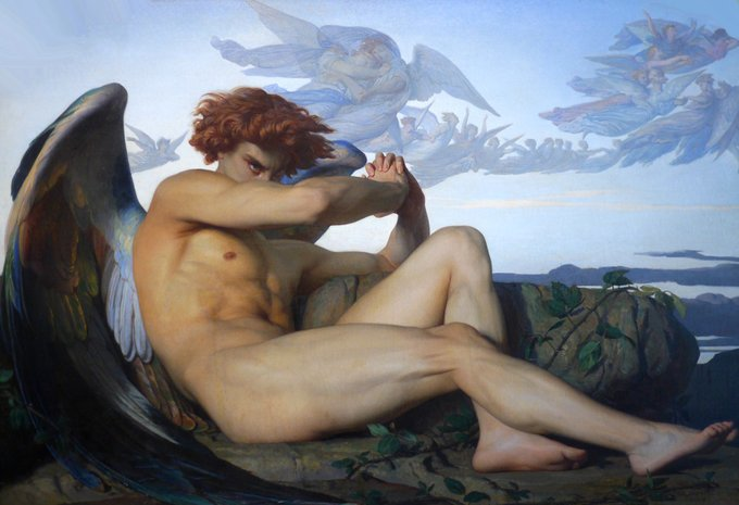 alexandre cabanel - düşmüş melek
